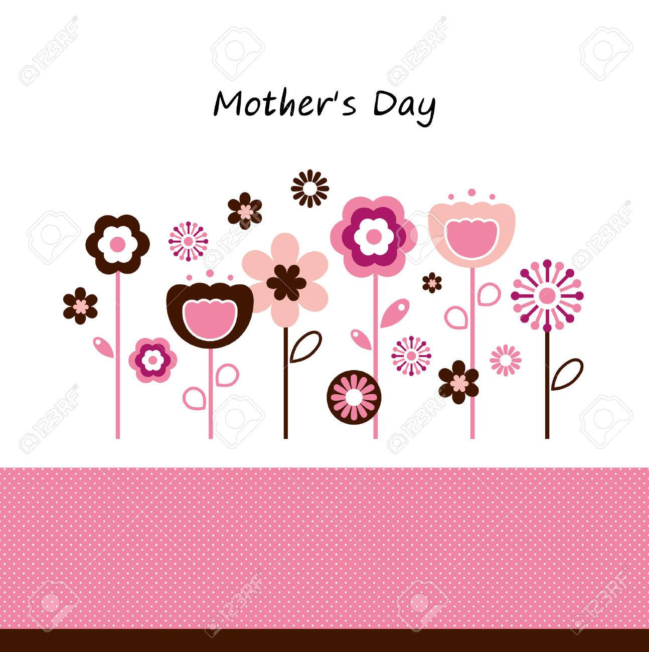Pink flowers for Mother Stock Vector - 27900724