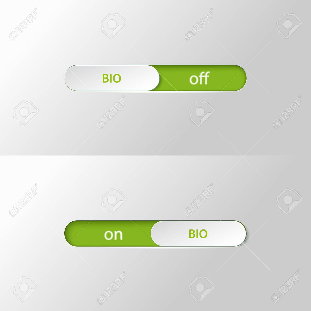 button slider bio on off