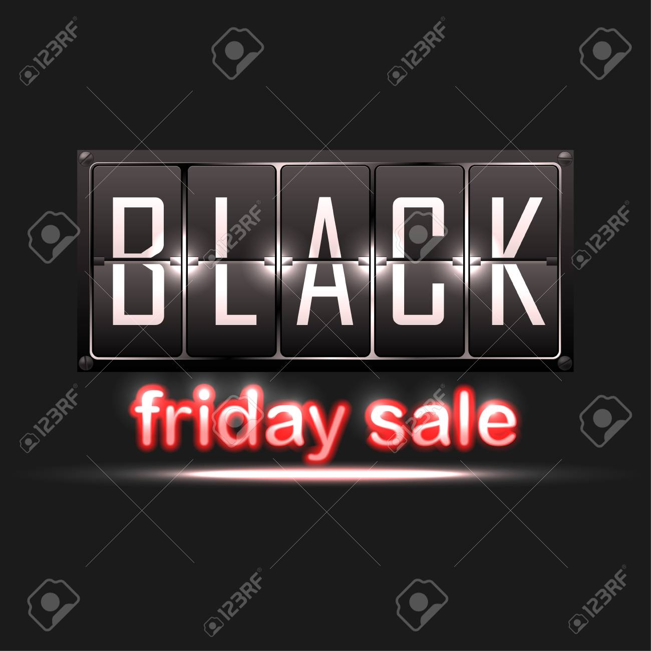 Black Friday Sale Sale Banner With Red Neon Text On White Background Royalty Free Cliparts Vectors And Stock Illustration Image 127594032