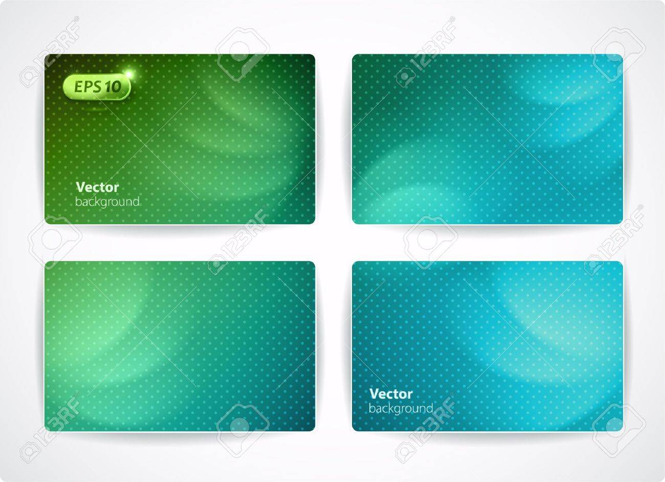 Set Of Vector Business Cards Credit Or Discount Cards Royalty Free ...
