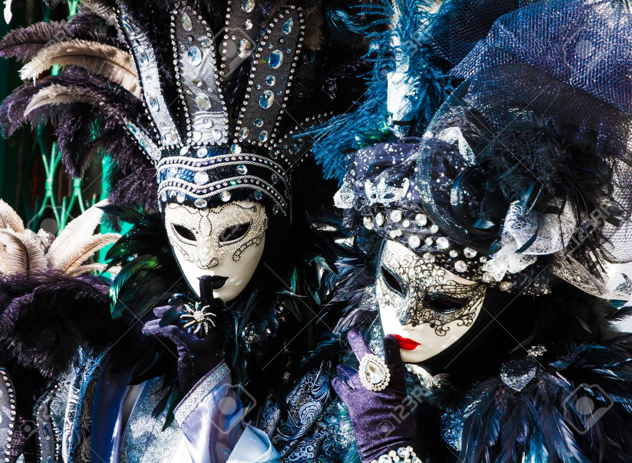 carnival masks in venice the carnival of venice is a annual stock
