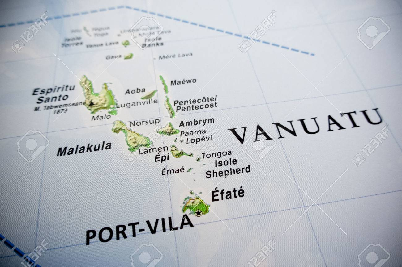 Vanuatu islands map stock photo picture and royalty free image stock photo vanuatu islands map gumiabroncs Image collections
