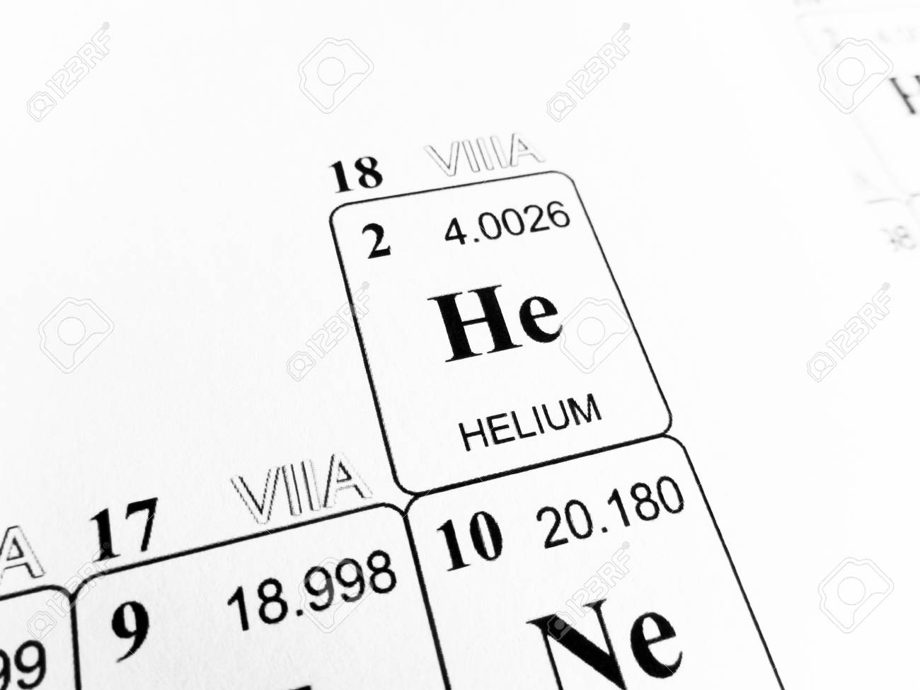 Helium on the periodic table of the elements stock photo picture helium on the periodic table of the elements stock photo 81554243 urtaz Image collections