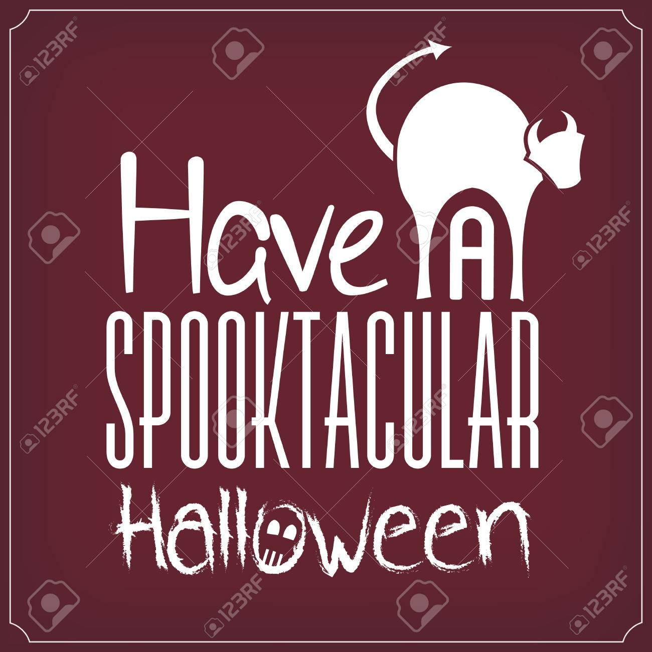 have a spooktacular halloween typographic template royalty free