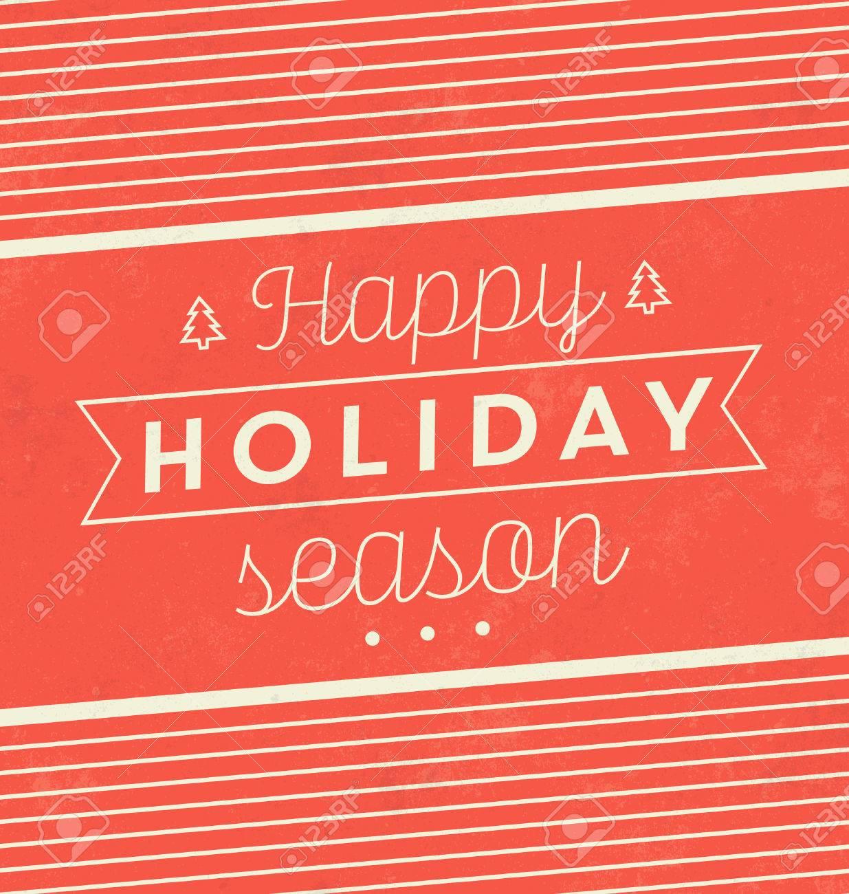 Vintage Christmas Typographic Background / Retro Design / Happy Holiday Season - 53347808