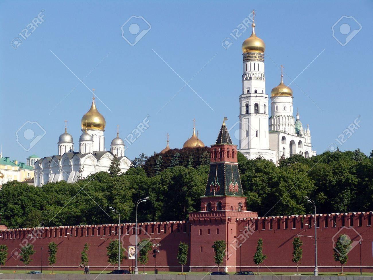 Kremlin quay, Moscow Kremlin, tower, Kremlin, Moscow, Russia - 2081247