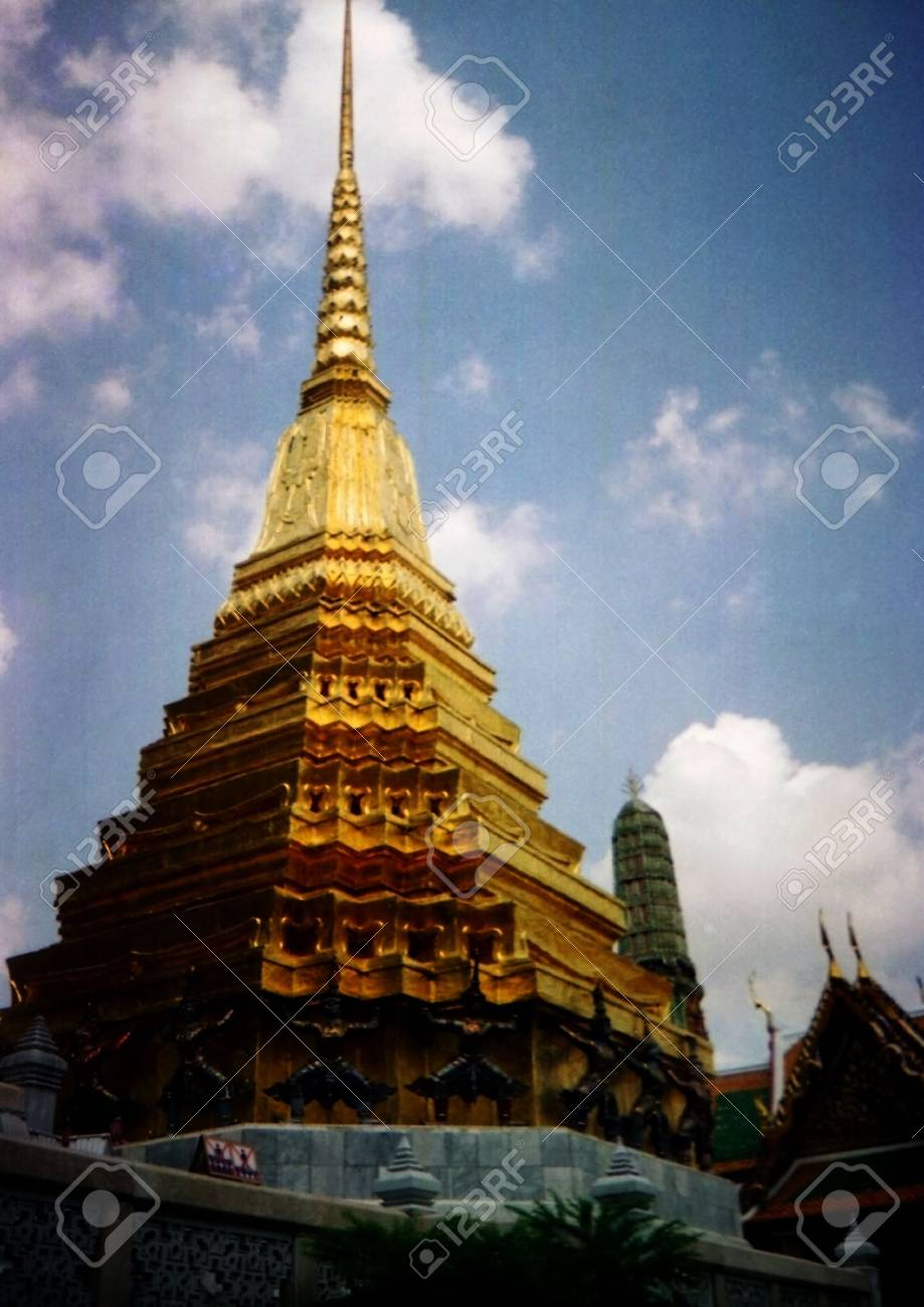 Complex of pagodas in a sun day in Thailand - 3085396