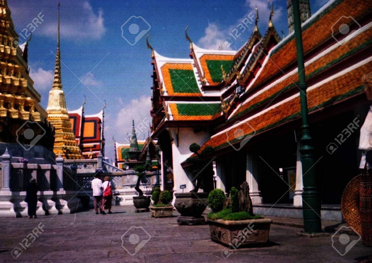Complex of pagodas in a sun day in Thailand - 3085398