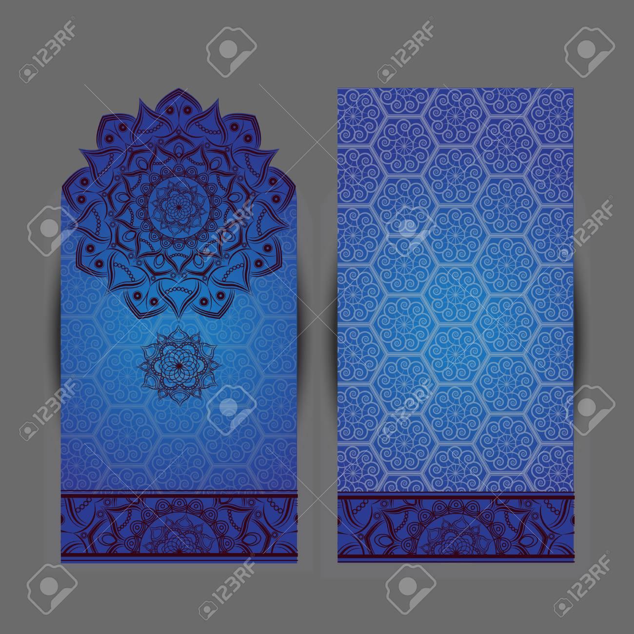 Wedding Invitation Or Card Flower Mandala Vintage Decorative