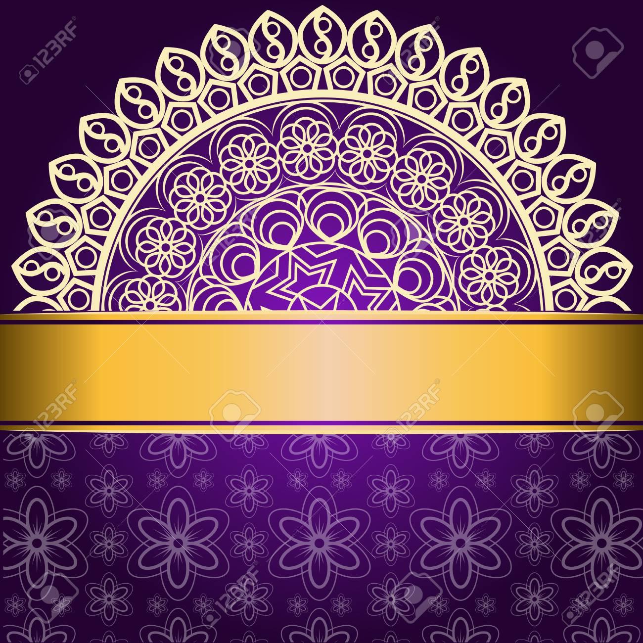 Invitation De Mariage Ou Carte Fleur Mandala Elements Decoratifs