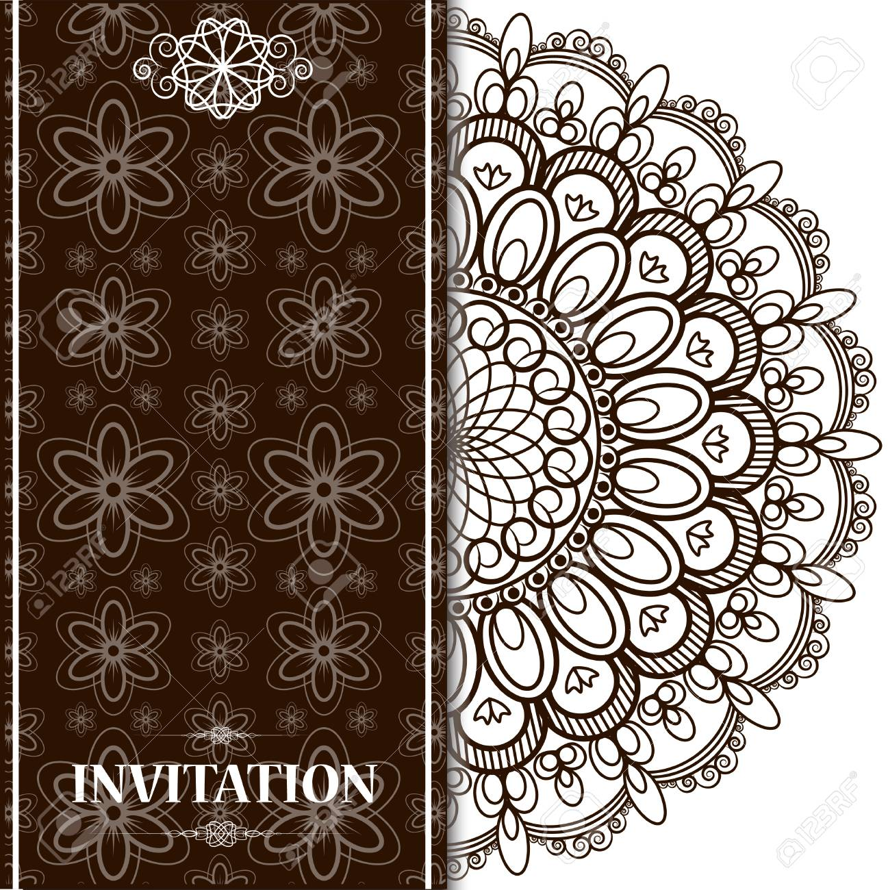 Wedding Invitation Or Card With Abstract Background Islam Arabic Royalty Free Cliparts Vectors And Stock Illustration Image 111709382