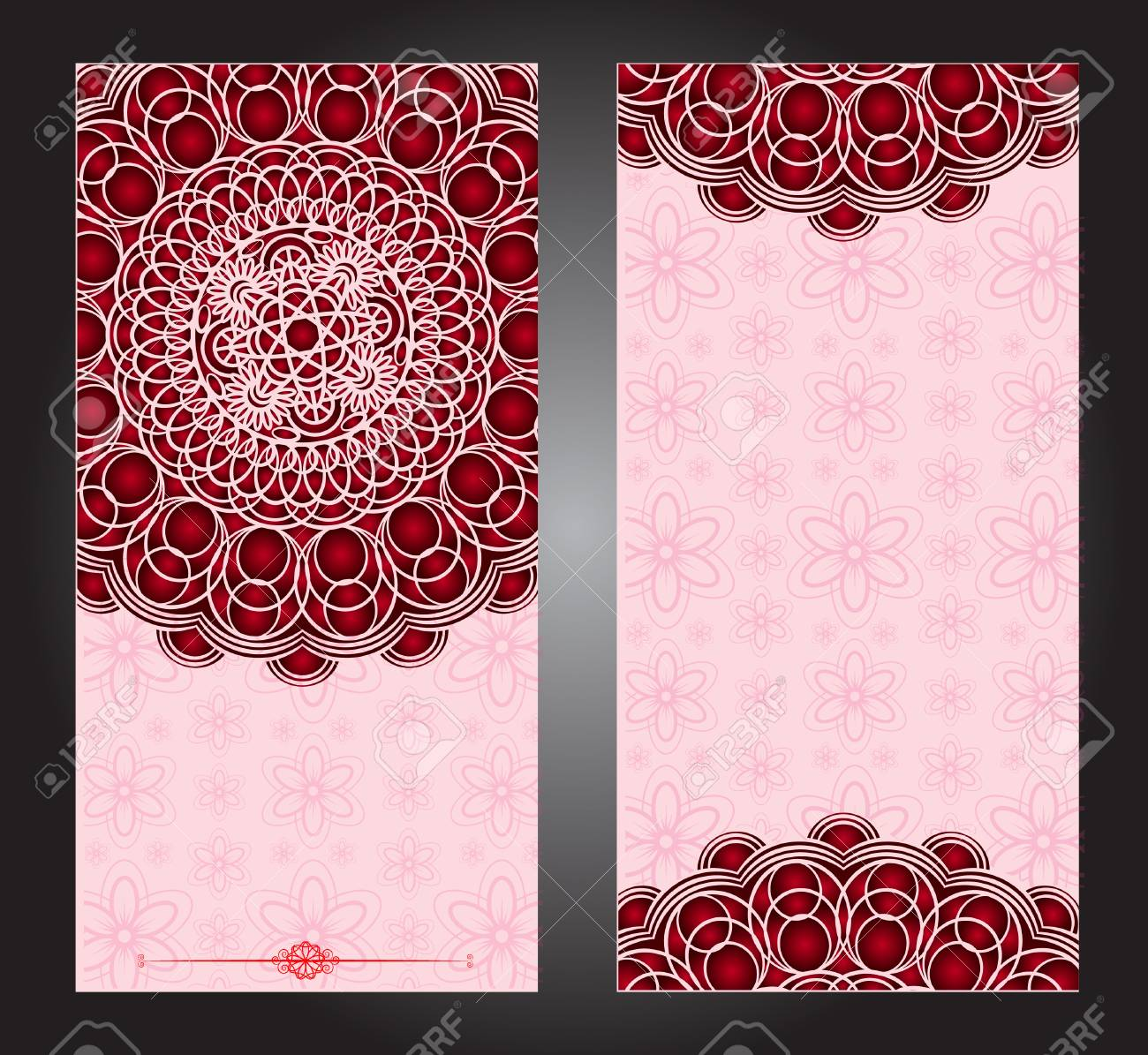 Wedding Invitation Or Card With Abstract Background Islam Arabic