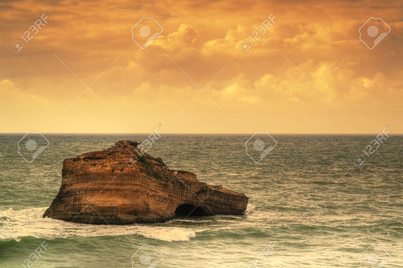 beautiful ocean, seacape, sky and water Stock Photo - 6714206