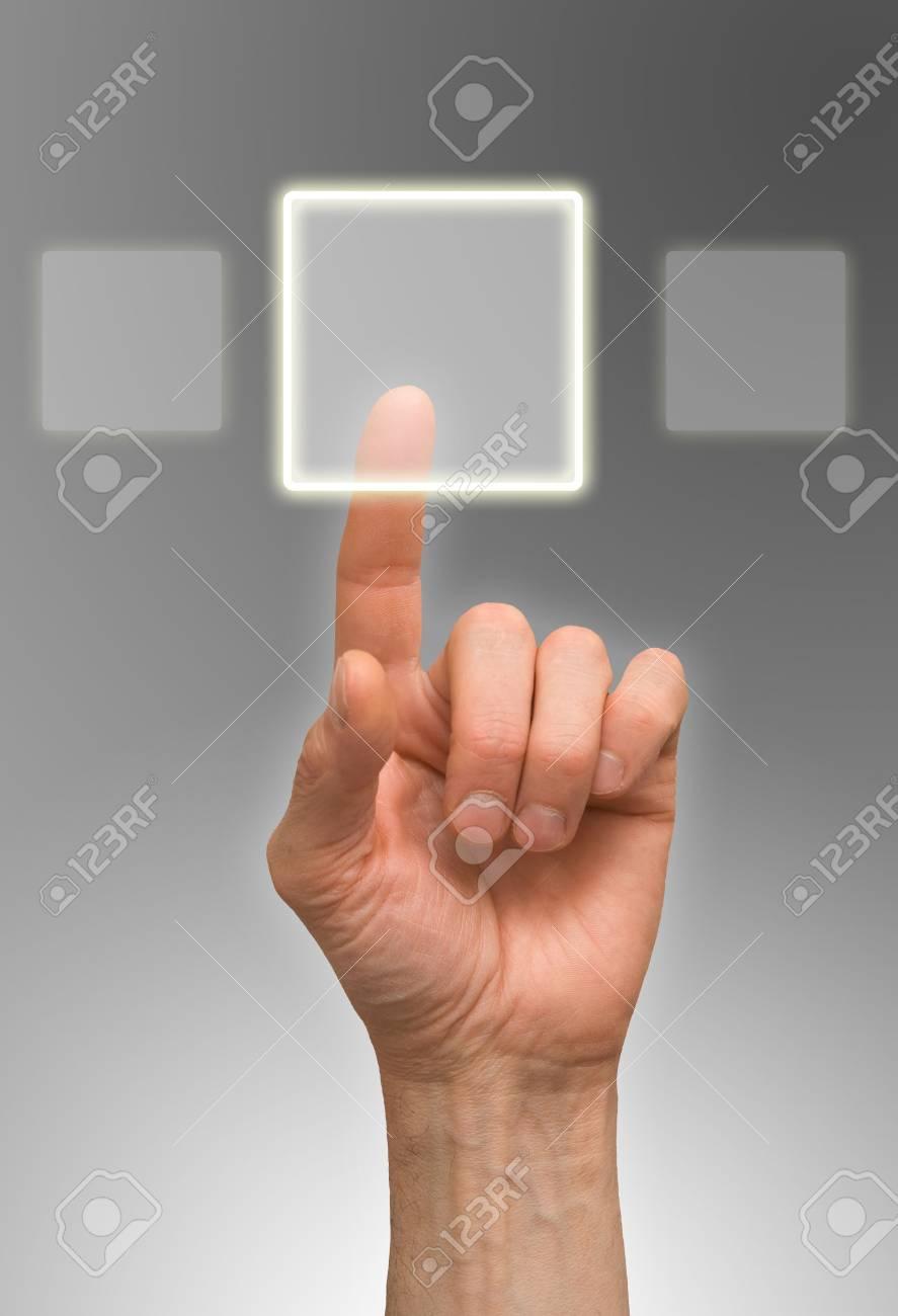 one finger Stock Photo - 6712111