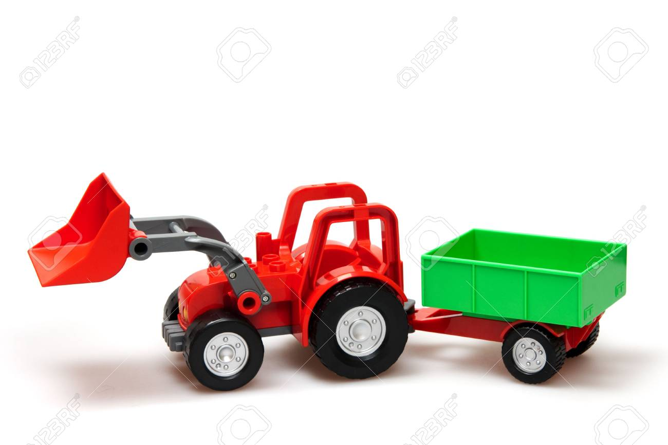 red tractor isolated on white Stock Photo - 6759311