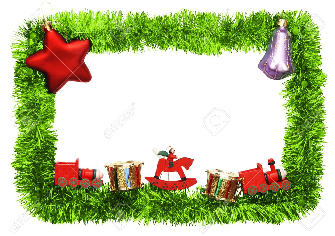 new year frame with toys Stock Photo - 8076654