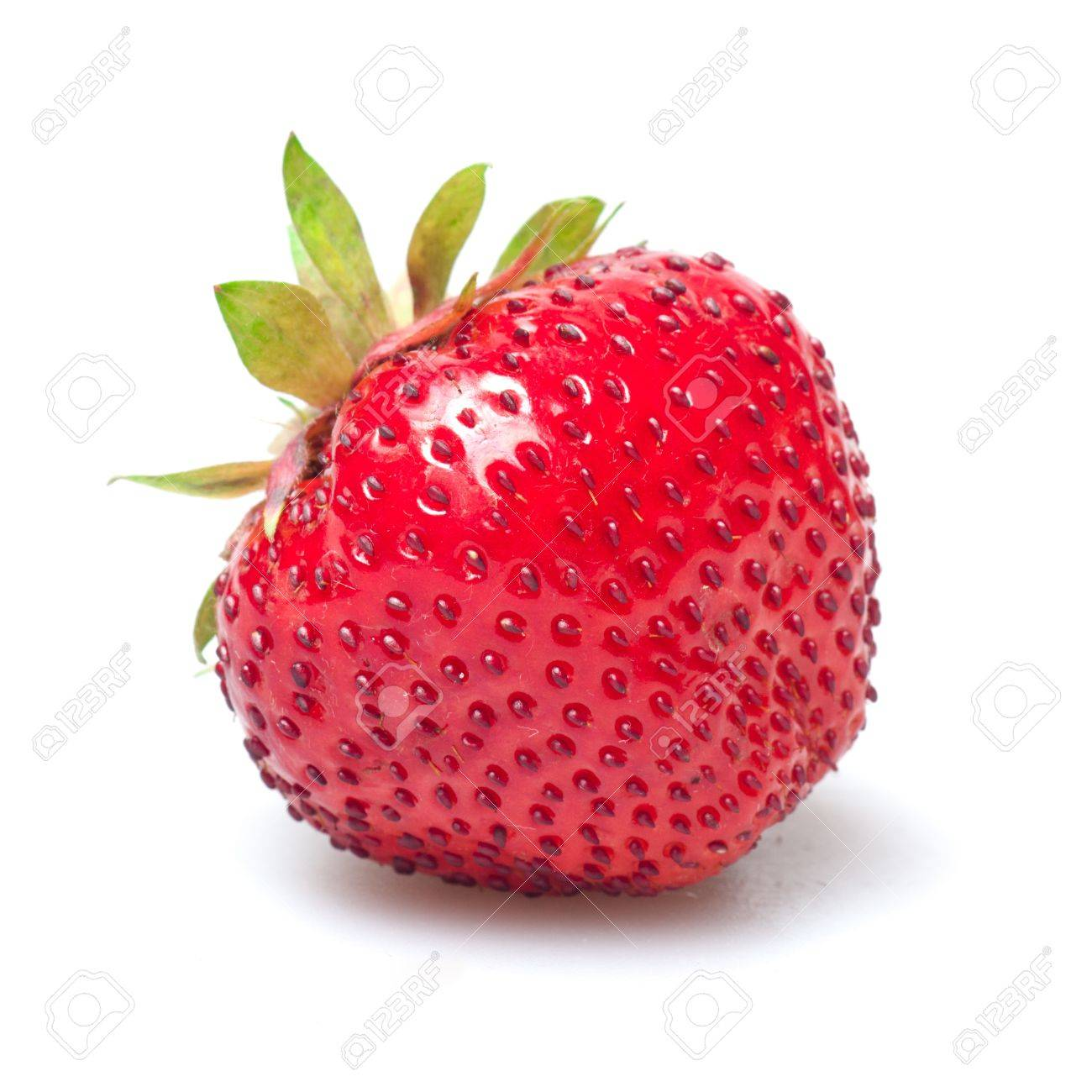 red strawberry isolated on white - 9719131