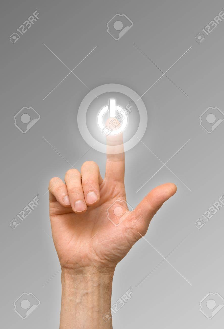 arm press on white button - 17410354