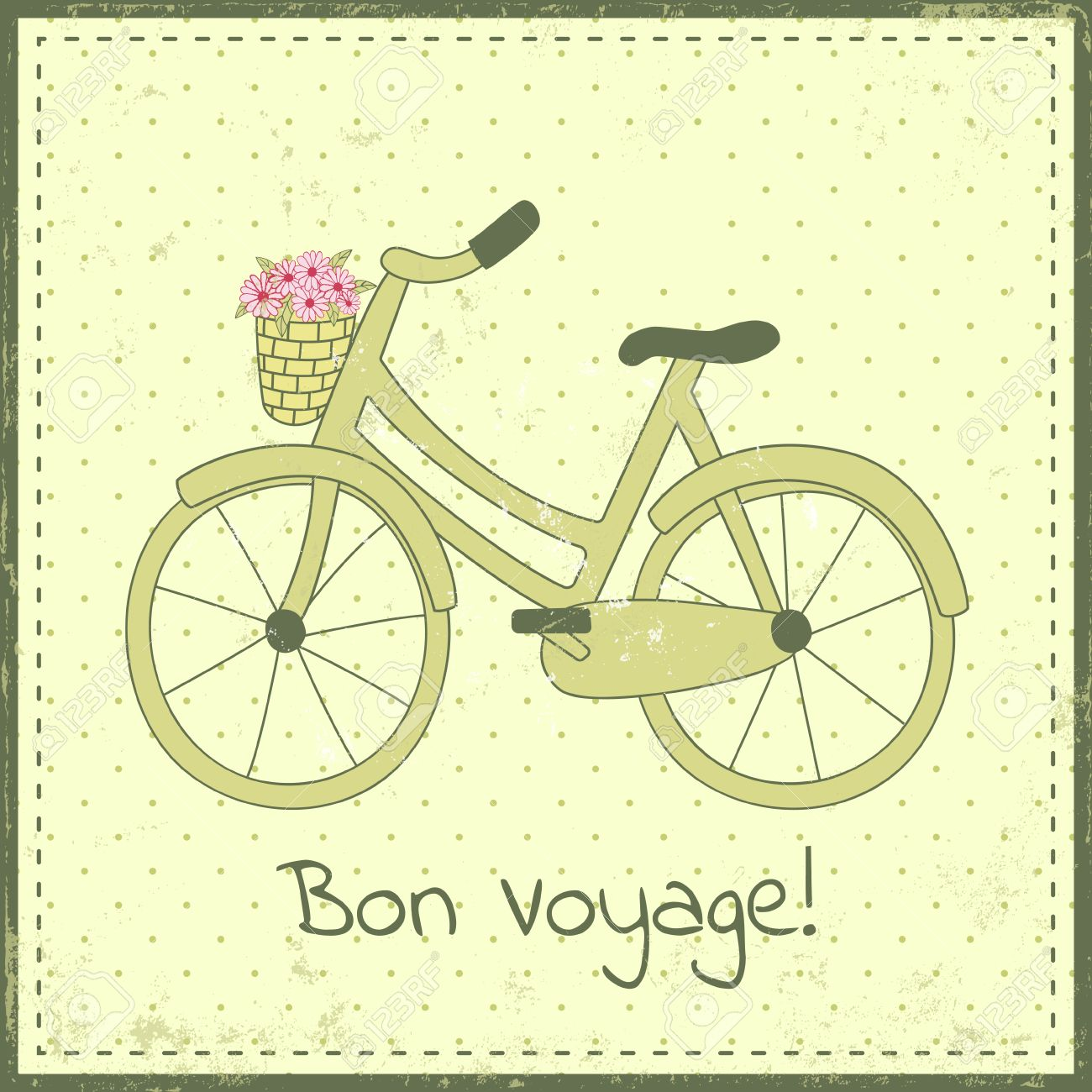 Greeting card template with bike illustration and bon voyage greeting card template with bike illustration and kristyandbryce Image collections