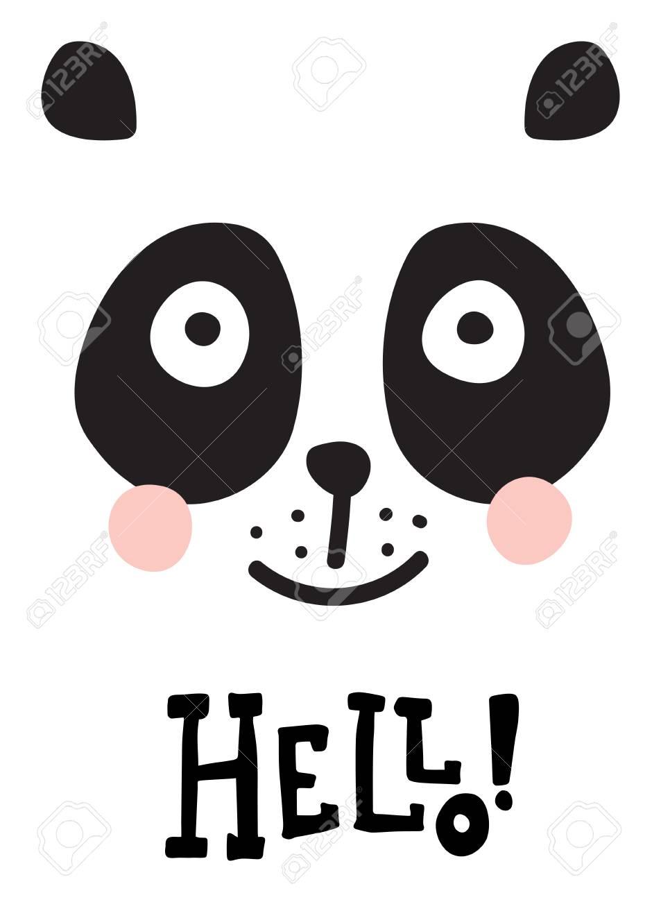 Panda Symbol Text Clipart Library