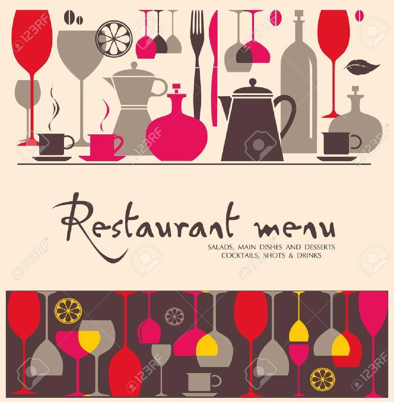 Vector. Restaurant menu design - 10502073