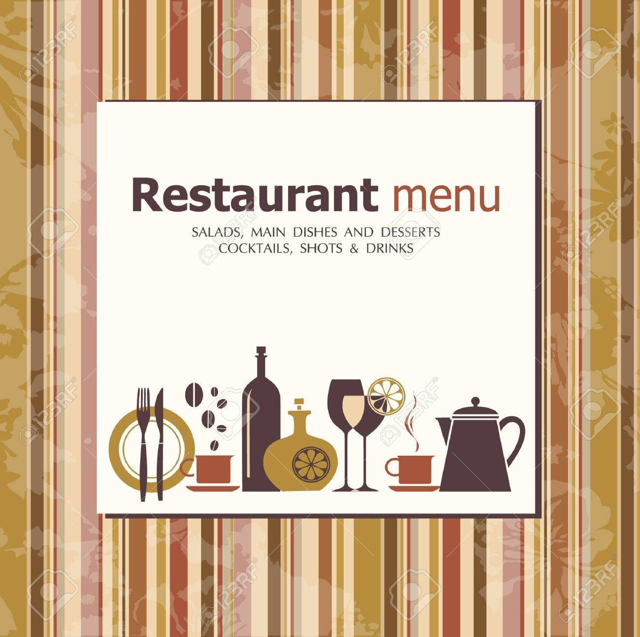Vector. Restaurant menu design Stock Vector - 10502079