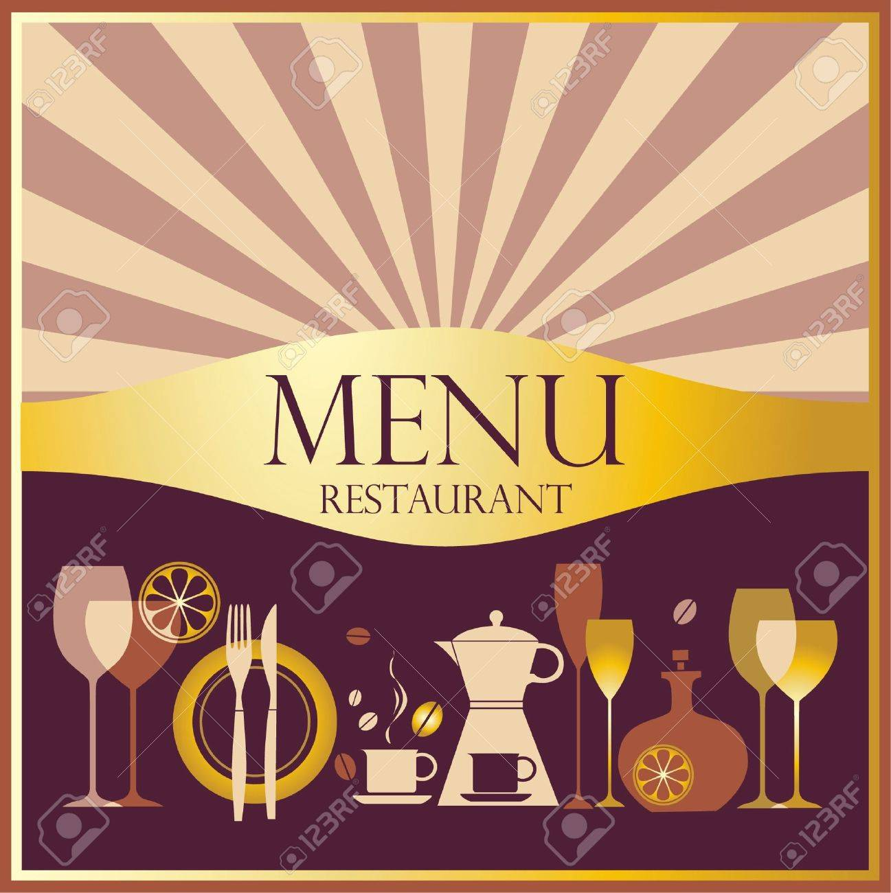Restaurant menu design Stock Vector - 11648284