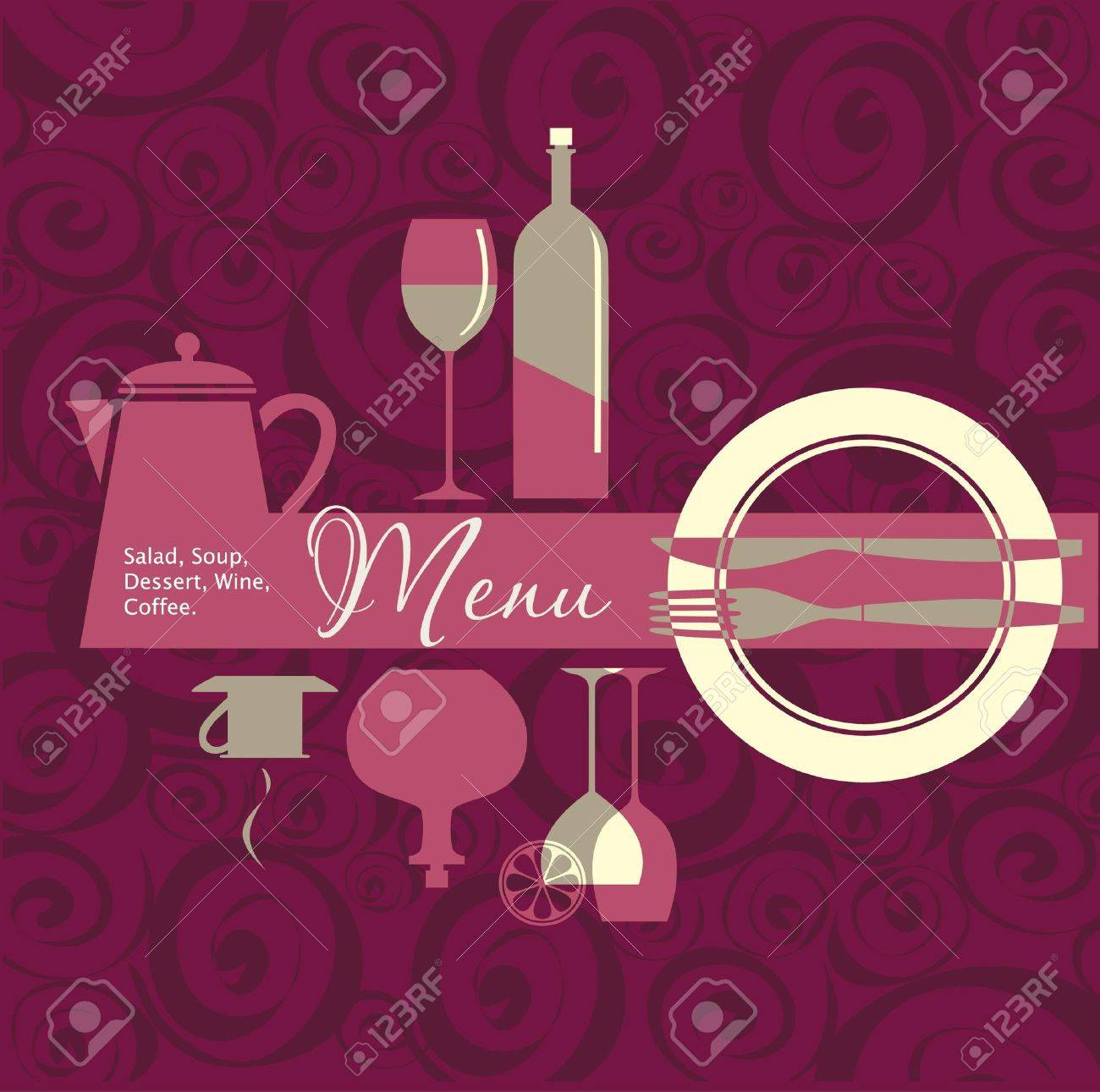menu for restaurant, cafe, bar, coffeehouse royalty free cliparts