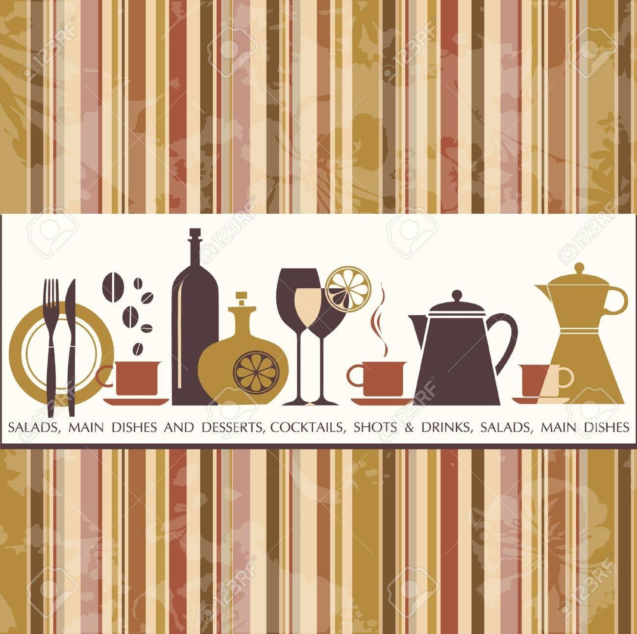 Restaurant menu design Stock Vector - 12874591