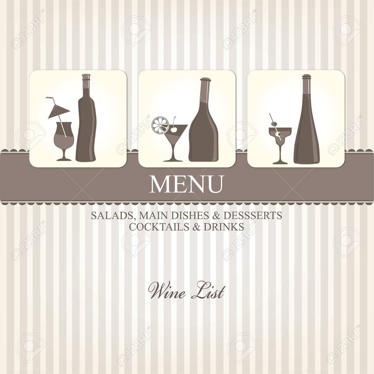 Wine list design Stock Vector - 16701832
