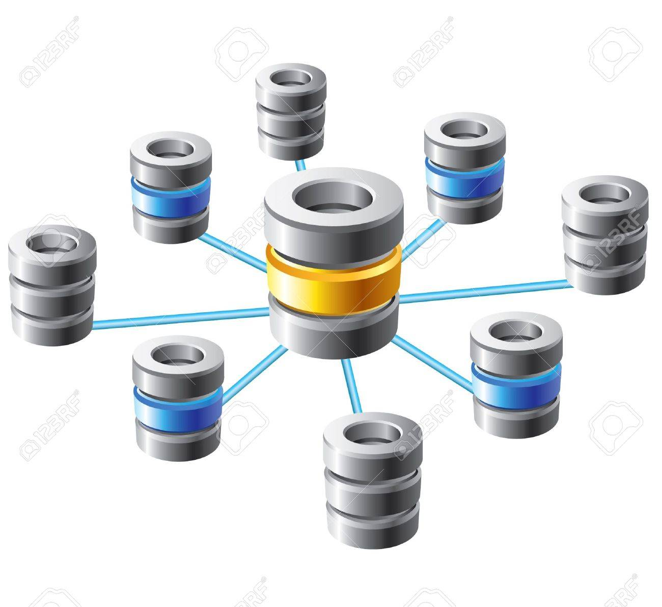 Database and networking concept Stock Vector - 19146449