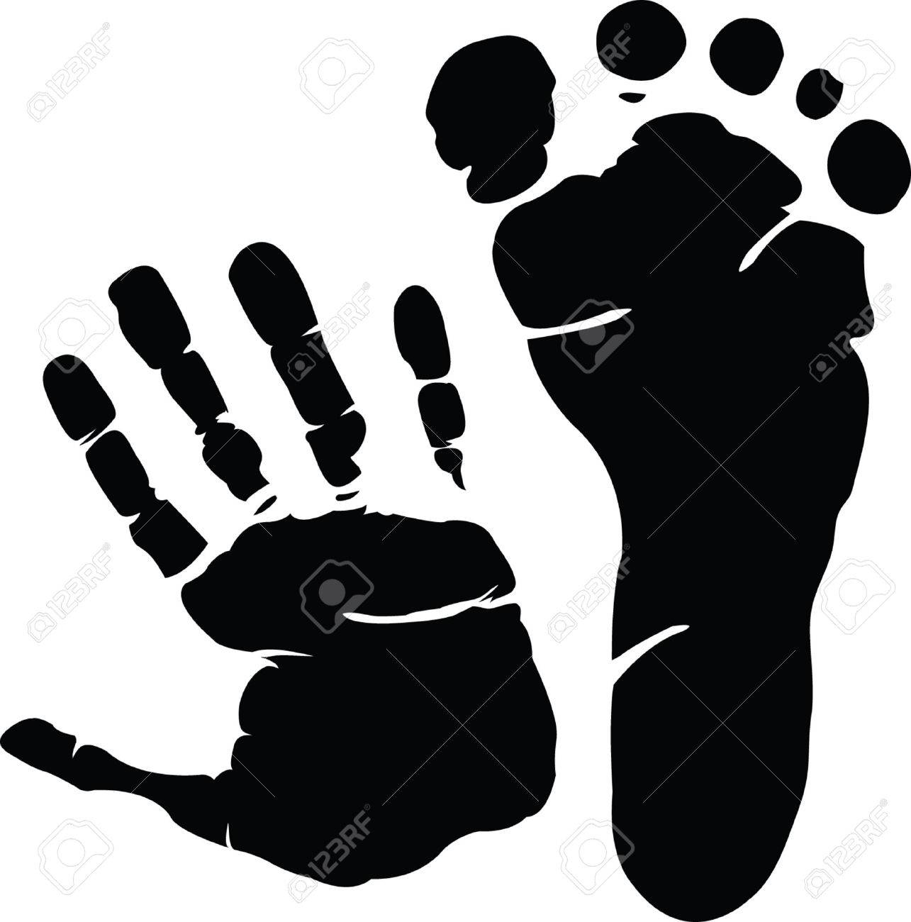 Hand and footprint Stock Vector - 6614208