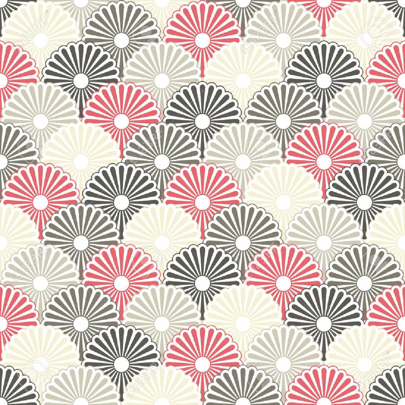 Japanese seamless background - 8318192