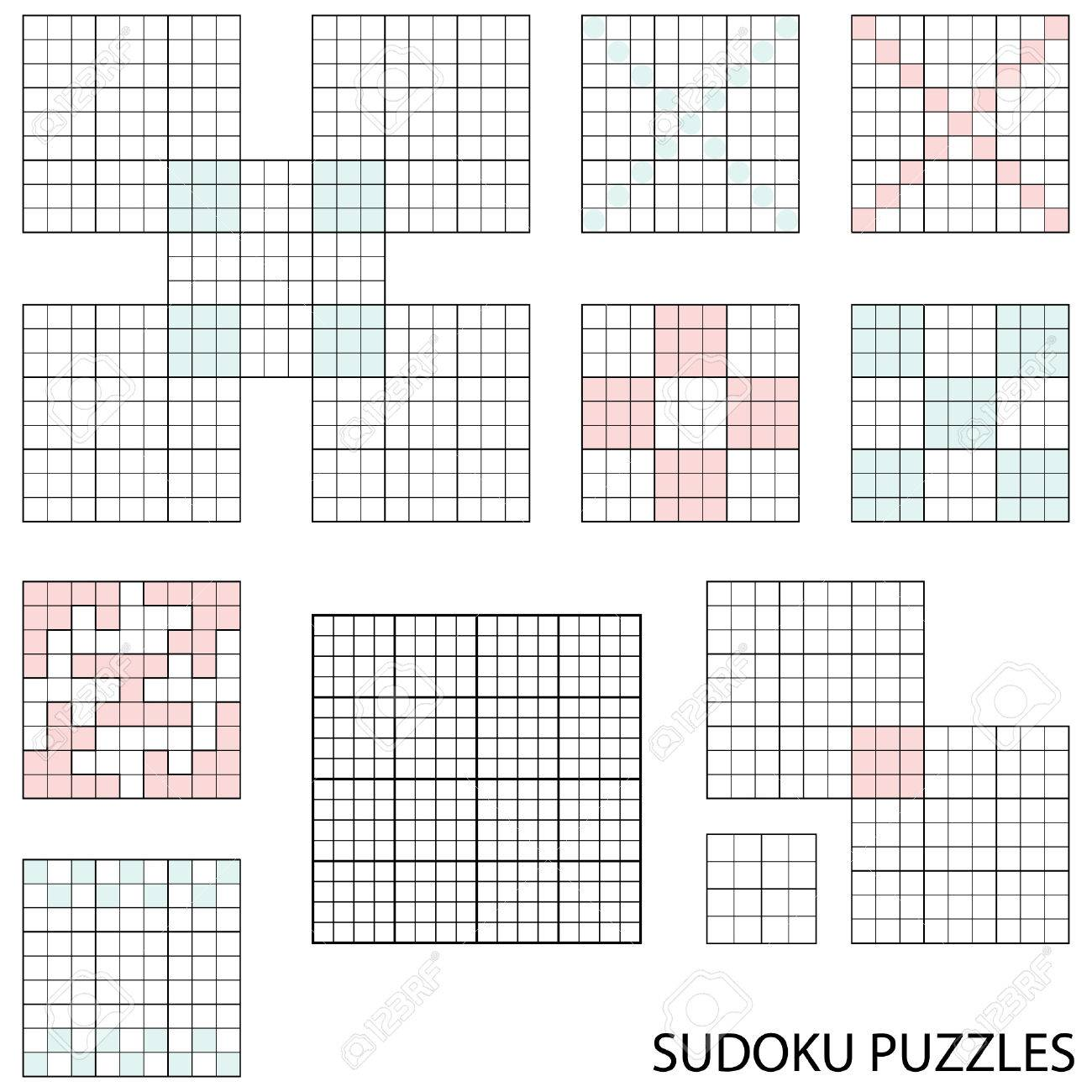 Blank Sudoku Templates Collection Royalty Free Cliparts, Vectors ...