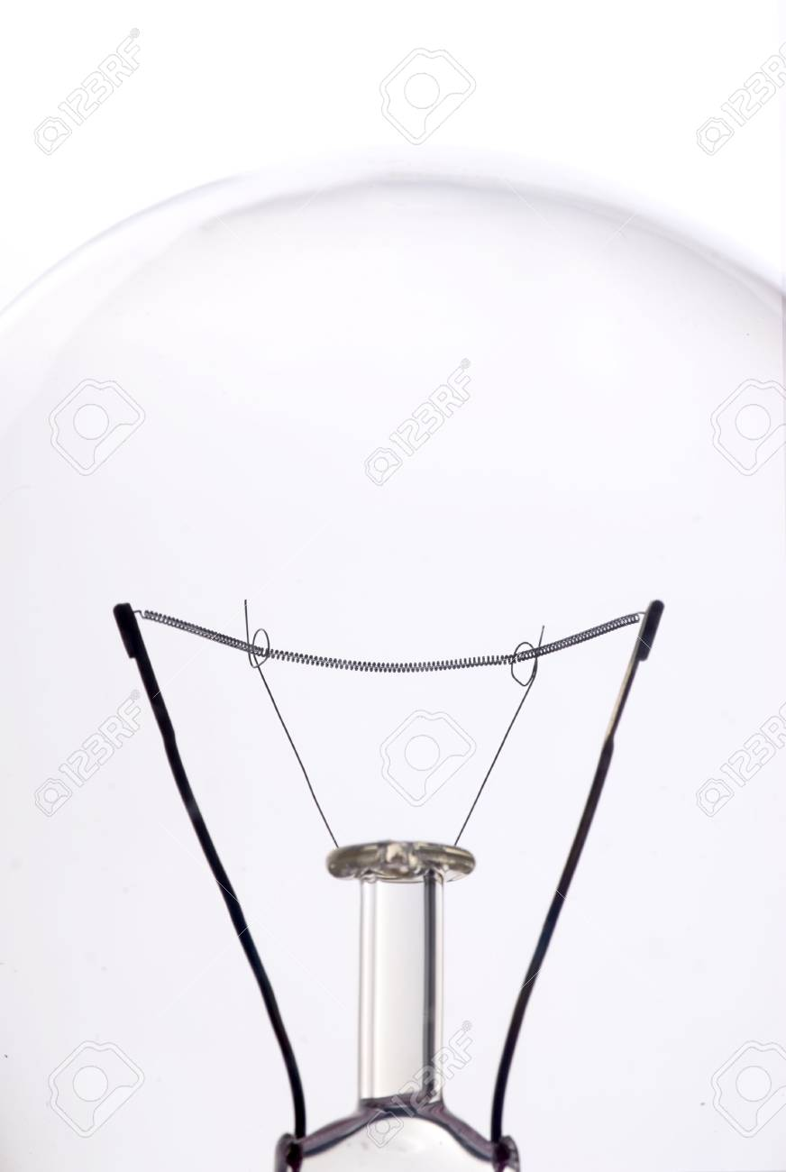 close-up of a lightbulb isolated over white Stock Photo - 915745