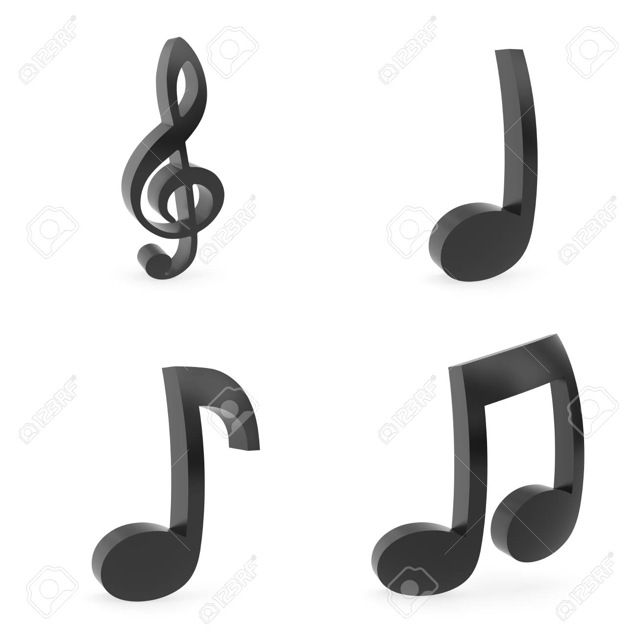 Curved music symbols rendered with soft shadows on white curved music symbols rendered with soft shadows on white background stock photo 94901810 buycottarizona Gallery