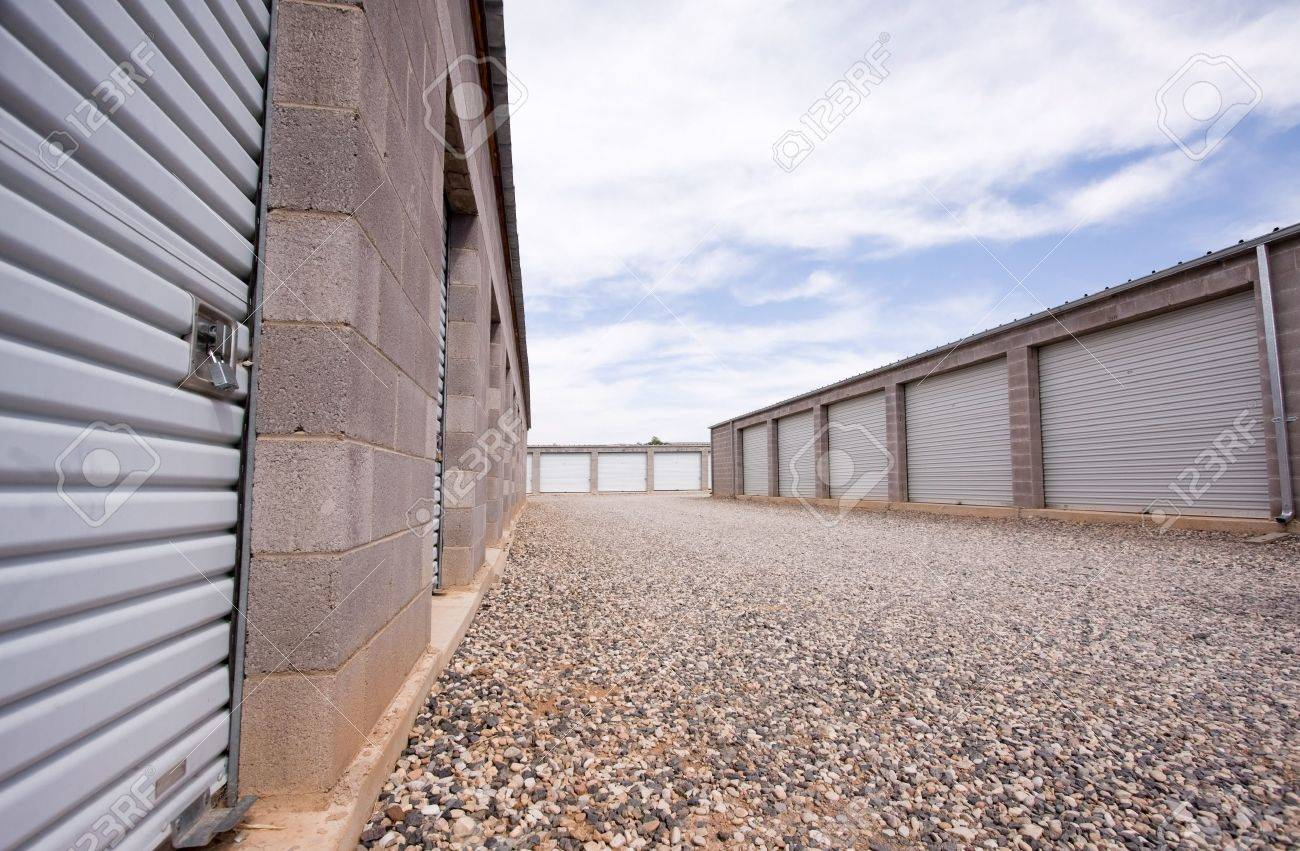 Wide angle view of storage units in concrete buildings. Stock Photo - 5964252