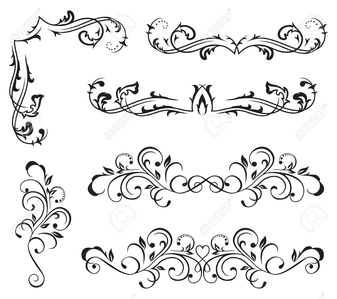 23163 Rococo Style Cliparts Stock Vector And Royalty Free Rococo