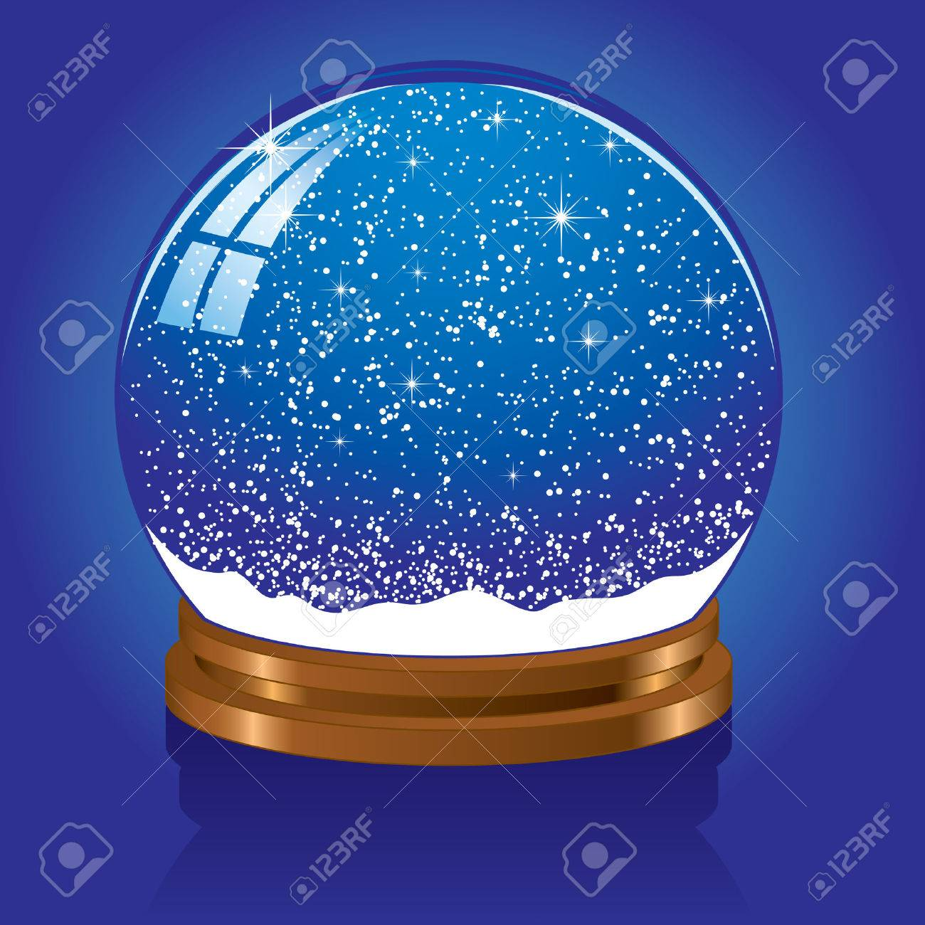 Christmas Snow globe with the falling snow, illustration Stock Vector - 7436920