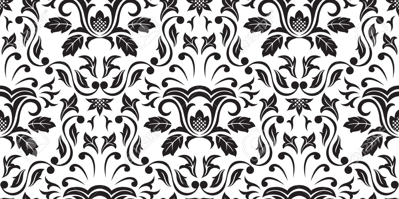 Gothic Pattern Wallpaper seamless gothic ornamental wallpaper, floral pattern, illustration