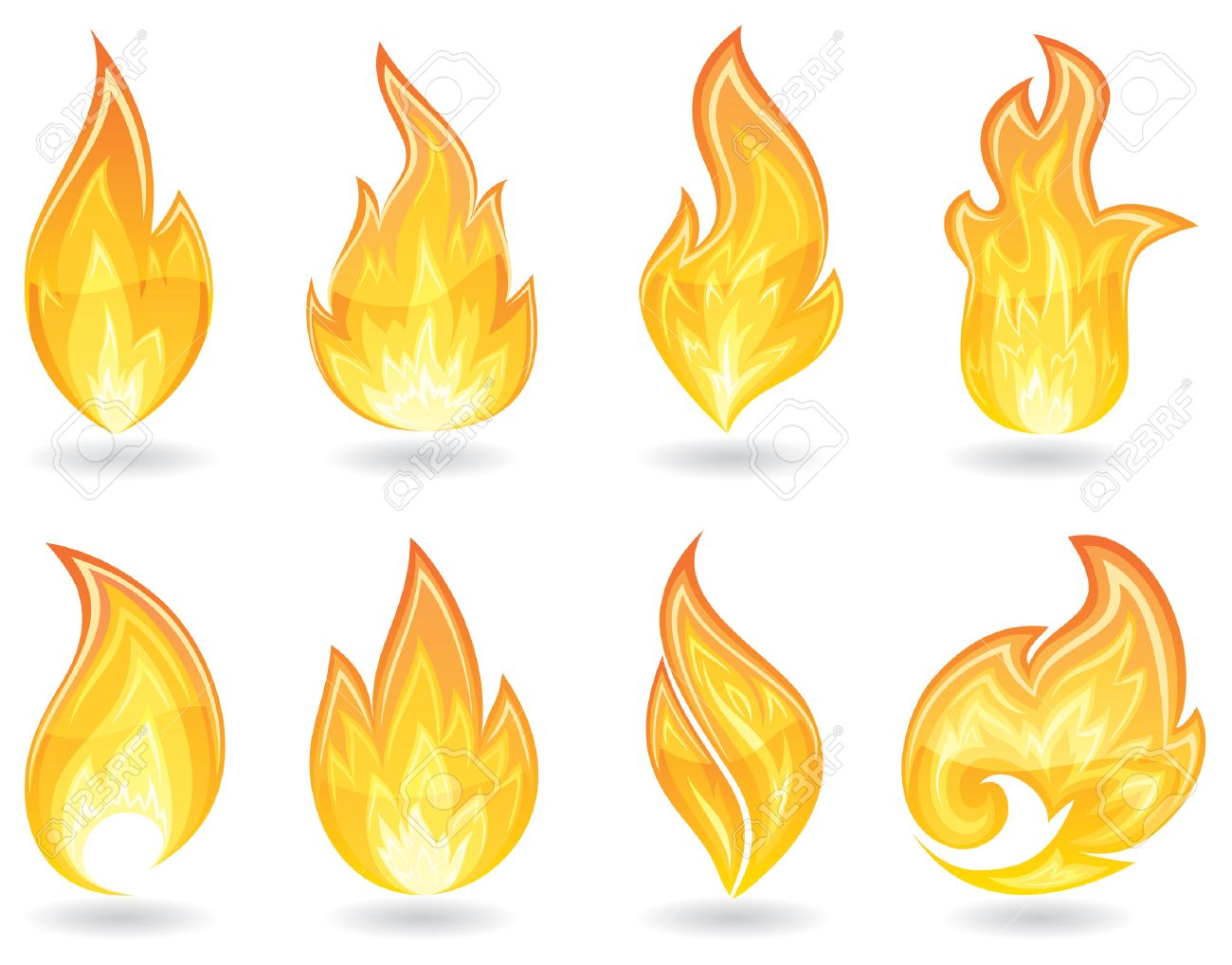 Set of a fire icons, illustration Stock Vector - 7824967