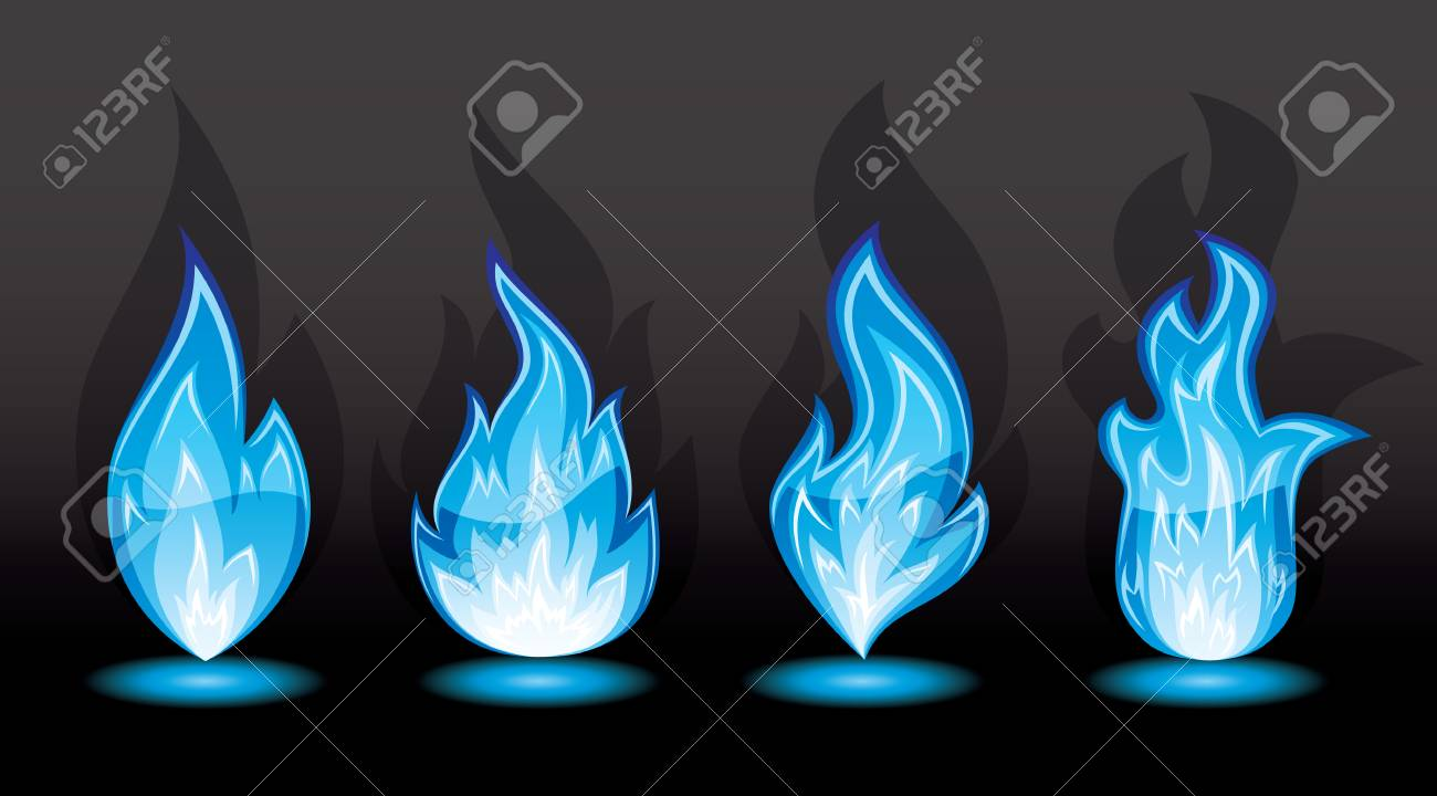 Set of a fire icons, illustration Stock Vector - 7929863