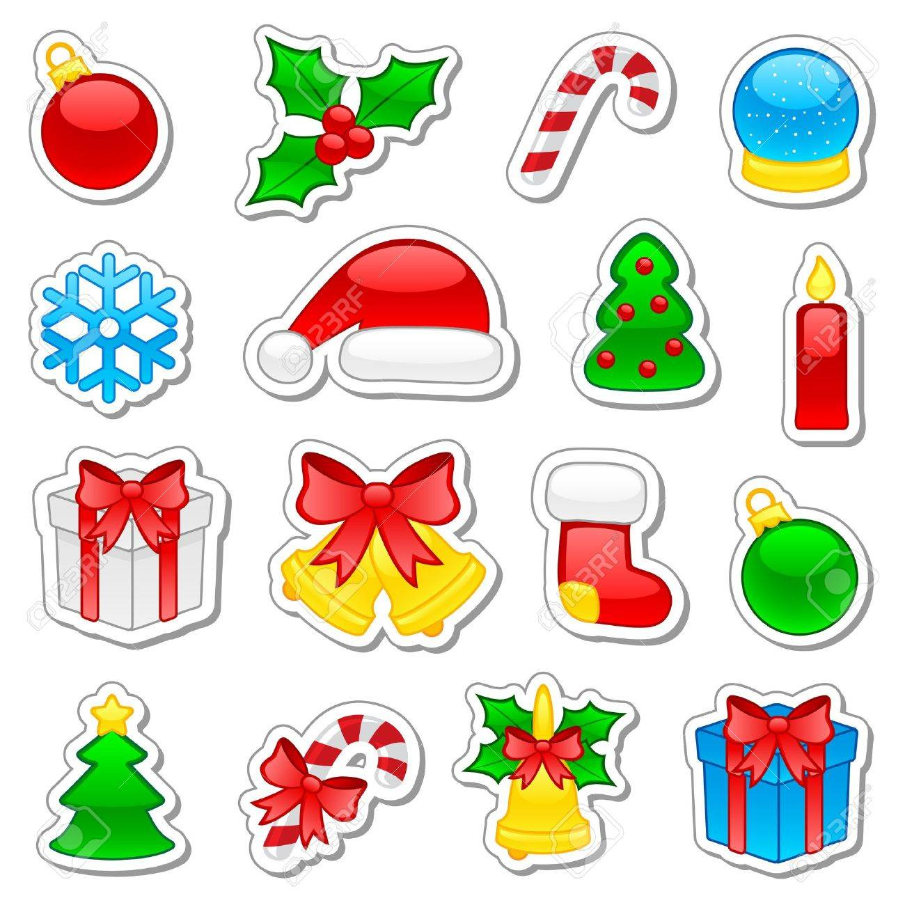 Set of Christmas icons, illustration Stock Vector - 9460964