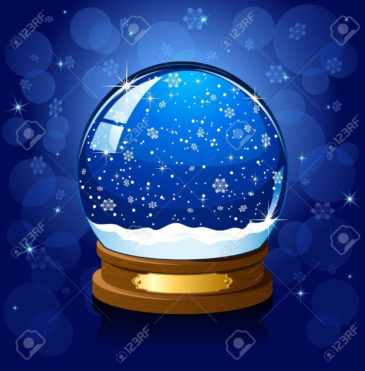 Christmas Snow globe with the falling snow, illustration Stock Vector - 11373350