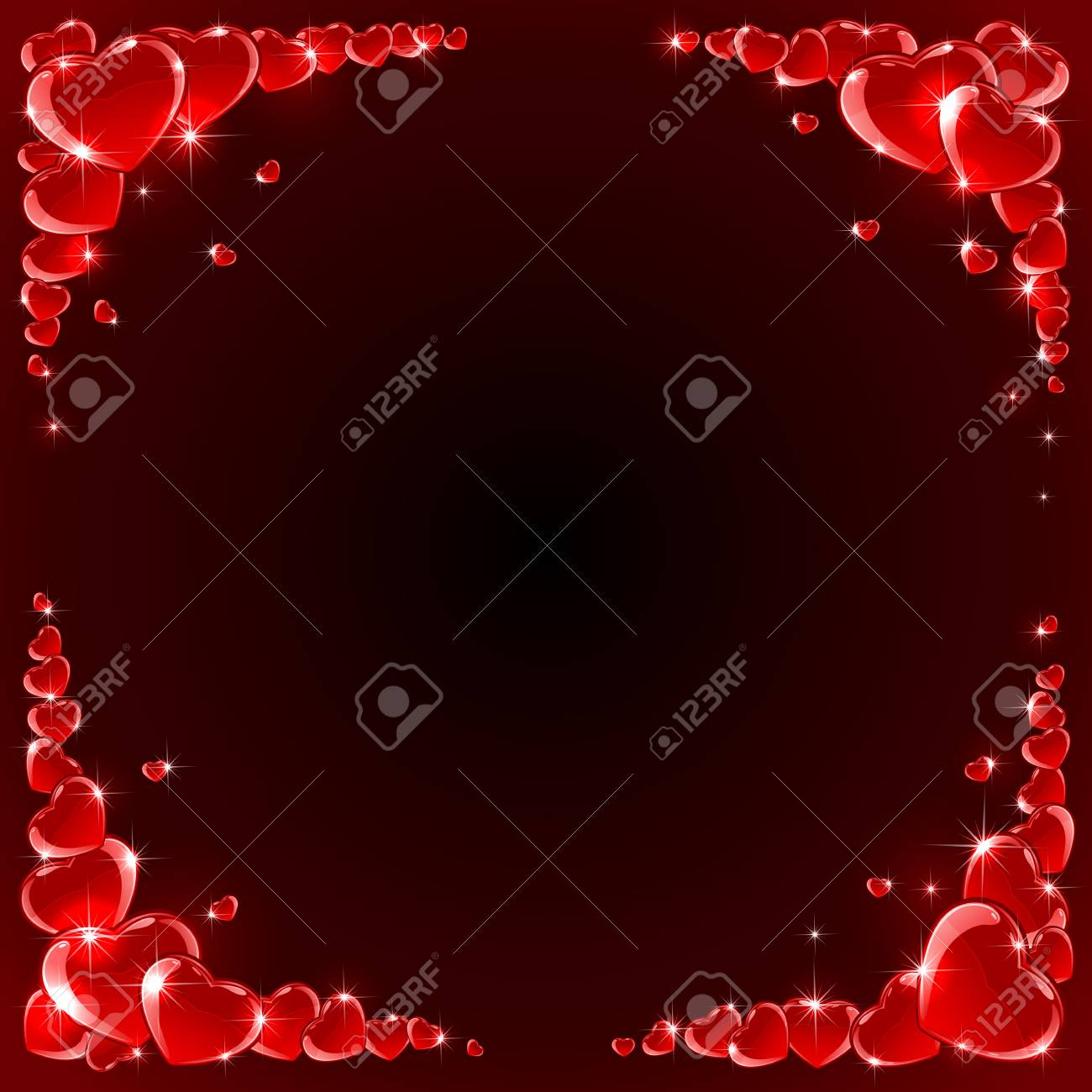 Valentines background with Hearts, illustration Stock Vector - 13489220