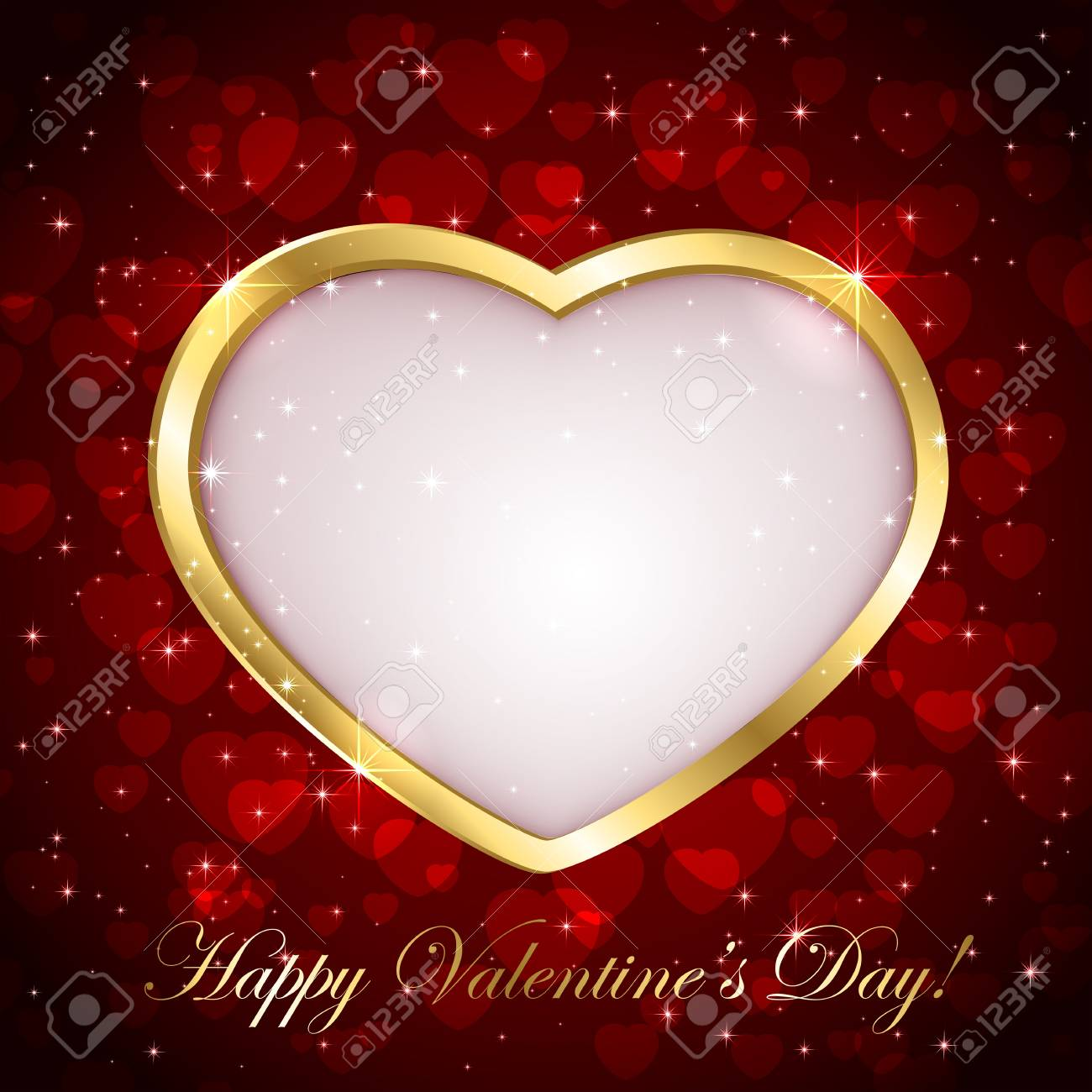Red sparkling valentines background with heart, illustration. Stock Vector - 17016995