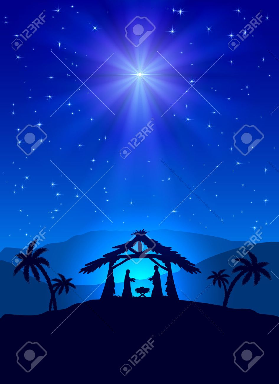 3,311 Nativity Scene Stock Vector Illustration And Royalty Free ...