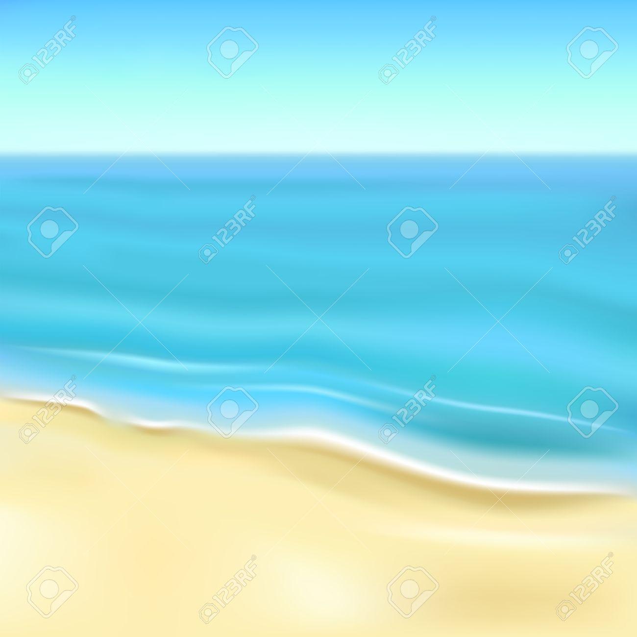 砂浜のビーチと海イラスト背景のイラスト素材ベクタ Image 27459829