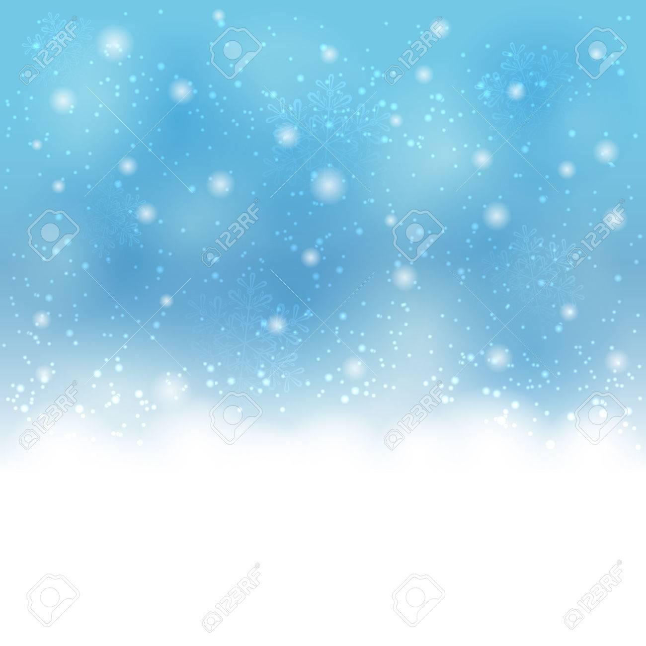 青色のクリスマス背景に雪と積雪 イラストのイラスト素材ベクタ