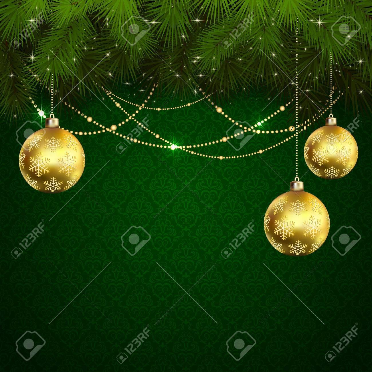 緑の壁紙イラストつまらないクリスマス ツリーの枝のイラスト素材